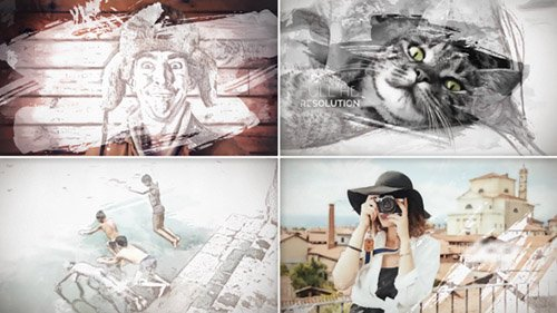 Painted Slideshow - Project for After Effects (Videohive)