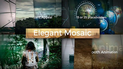 Elegant Mosaic Opener - Project for After Effects (Videohive)