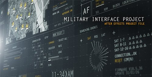 HUD Military Interface Project - Project for After Effects (Videohive)
