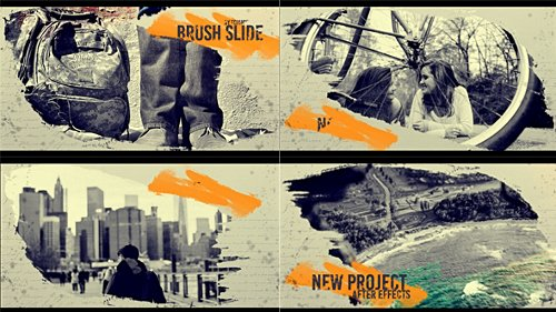 Brush Slide - Project for After Effects (Videohive)