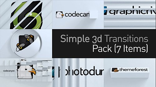 3D Simple Transitions Pack - Project for After Effects (Videohive)