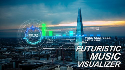 Futuristic Music Visual - Project for After Effects (Videohive)