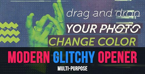 Modern Glitchy Opener - Project for After Effects (Videohive)