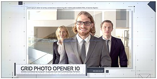 Grid Photo Opener - Corporate Slideshow - Project for After Effects (Videohive)