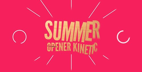 Summer Opener Kinetic - Project for After Effects (Videohive)