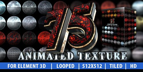 75 Animated Texture (Element 3D) - Project for After Effects (Videohive)