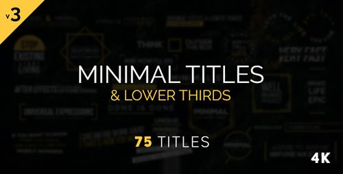Minimal Titles & Lower Thirds 17156267 - Project for After Effects (Videohive)