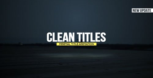 Clean Titles 15560241 - Project for After Effects (Videohive)