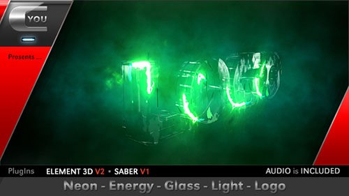 Neon Energy Glass Light Logo - Project for After Effects (Videohive)