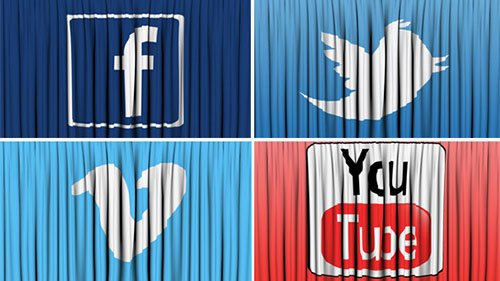 Social Network Curtain Open - Motion Graphics (Videohive)