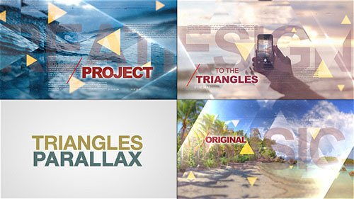 Triangles World of Parallax - Project for After Effects (Videohive)