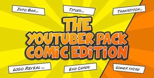 The YouTuber Pack - Comic Edition - Project for After Effects (Videohive)