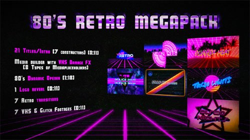 80's Retro Megapack - Project for After Effects (Videohive)