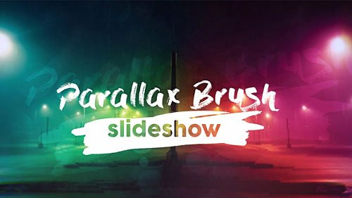 Parallax Brush Slideshow - Project for After Effects (Videohive)