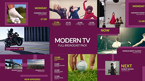 Modern TV - Full Broadcast Pack - Project for After Effects (Videohive)