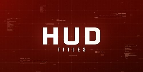 Hud Titles - Project for After Effects (Videohive)