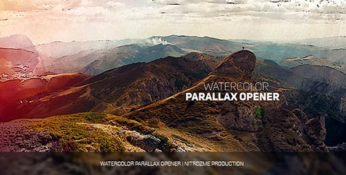 Watercolor Parallax Opener - Project for After Effects (Videohive)