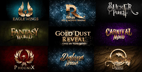 Gold Dust Reveal - Project for After Effects (Videohive)