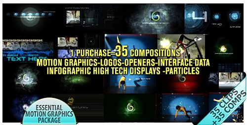 Motion Graphics Displays And Particles Bundle Pack - Project for After Effects (Videohive)