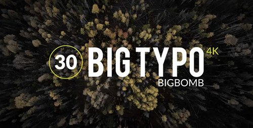 Big Typo - Project for After Effects (Videohive)