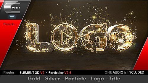 Gold Silver Particle Logo Title - Project for After Effects (Videohive)