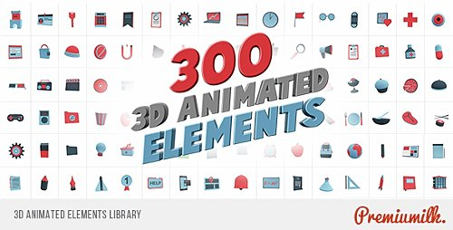 3D Animated Elements Library - Project for After Effects (Videohive)
