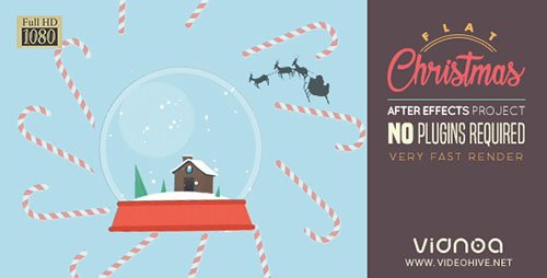 Flat Christmas - Project for After Effects (Videohive)