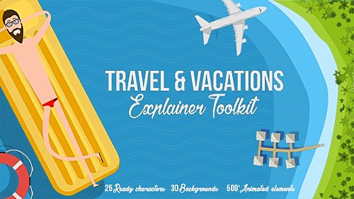 Travel & Vacations Explainer Toolkit - Project for After Effects (Videohive)