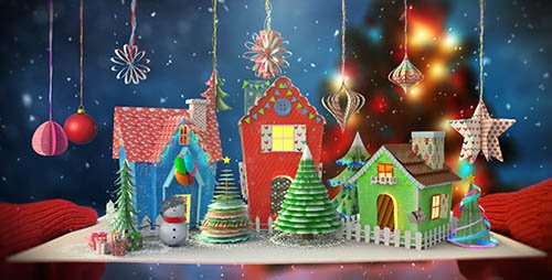 Christmas Paper Card - Project for After Effects (Videohive)