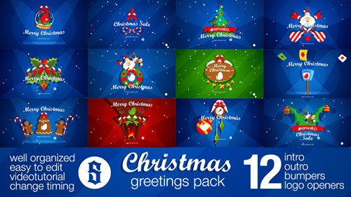 Christmas Pack Intro - Outro - Logo Openers - Project for After Effects (Videohive)