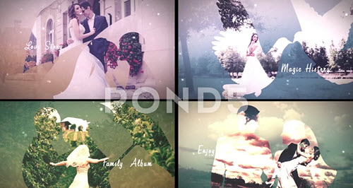 Magic Love Story-Double Exposure - Project for After Effects (POND5)