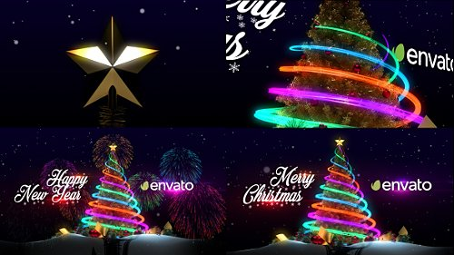 Christmas Tree & New Year Greetings - Project for After Effects (Videohive)