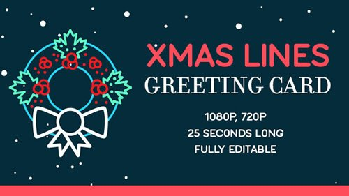 Xmas Lines Greeting Card - Project for After Effects (Videohive)