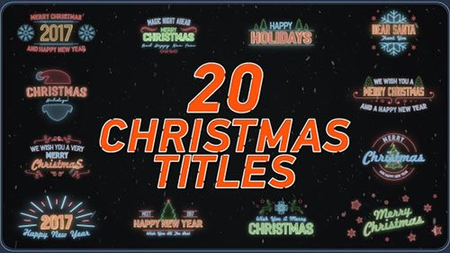 20 Christmas Titles - Project for After Effects (Videohive)