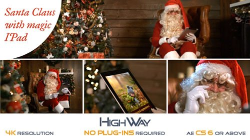 Santa Claus With Magic IPad - Project for After Effects (Videohive)