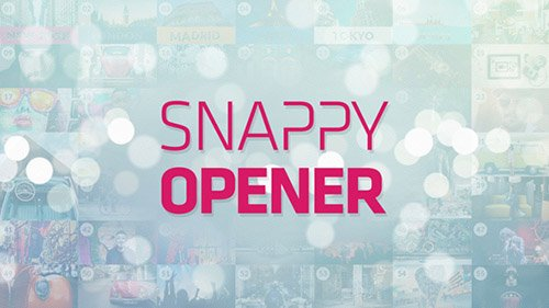 Snappy Opener - Project for After Effects (Videohive