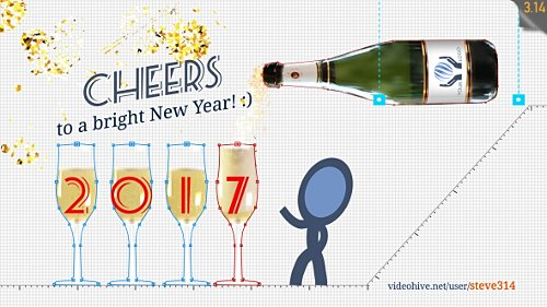 New Year Greetings - Project for After Effects (Videohive)