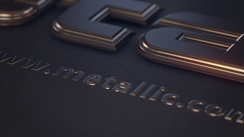 Metallic Text - Project for Cinema 4D & After Effects (Videohive)