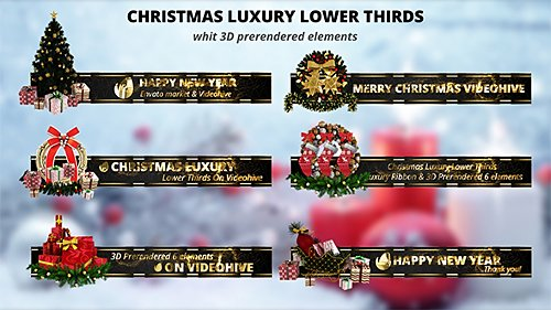 Christmas Luxury Lower Thirds - Project for After Effects (Videohive)