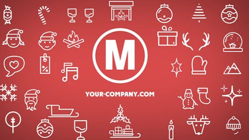 Minimal Christmas Icons - Project for After Effects (Videohive)