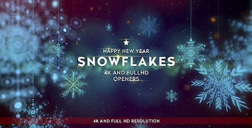 Snowflakes 4K Openers - Project for After Effects (Videohive)