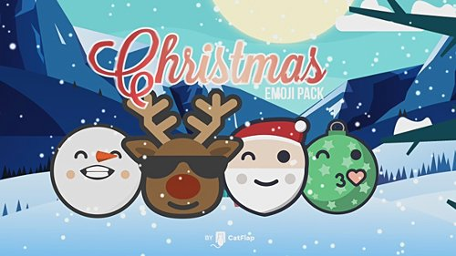 120 Animated Emojis - Christmas Pack - Project for After Effects (Videohive)