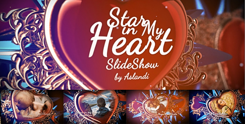 Valentine Day Star in My Heart SlideShow Photo Gallery - Project for After Effects (Videohive)