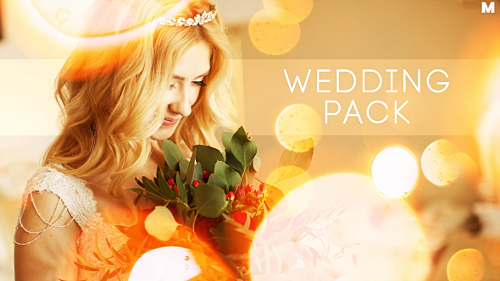Wedding Titles Slideshow Light Leaks - Project for After Effects (Videohive)