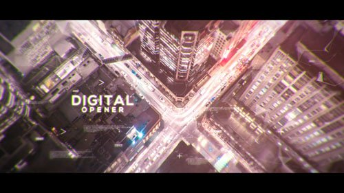 Digital Parallax Opener | Slideshow - Project for After Effects (Videohive)