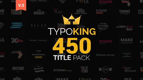 TypoKing | Title Animation - Kinetic Typography Text - Project for After Effects (Videohive)