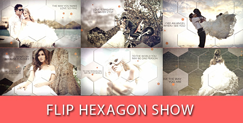 Flip Hexagon Show - Project for After Effects (Videohive)