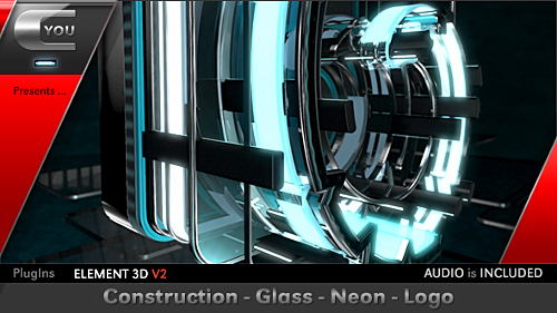 Construction Glass Neon Logo - Project for After Effects (Videohive)