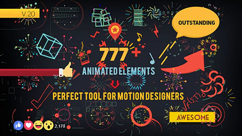 Shape Elements v. 20 - Project for After Effects (Videohive)