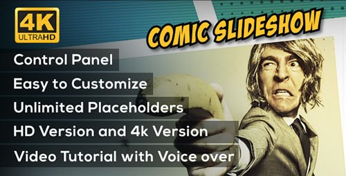 Comic Slideshow Opener - Project for After Effects (Videohive)